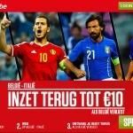 Ladbrokes promotie wedstrijd België Italië